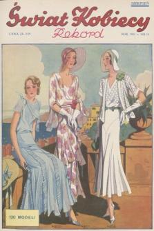 Świat Kobiecy. R.11, 1931, nr15