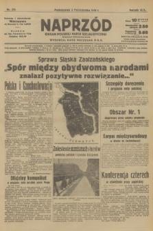 Naprzód : organ Polskiej Partji Socjalistycznej. 1938, nr279