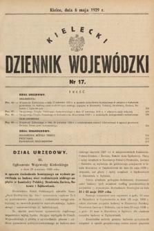 Kielecki Dziennik Wojewódzki. 1929, nr17