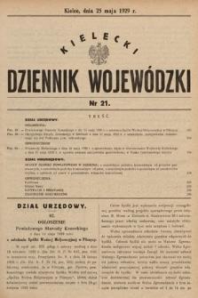 Kielecki Dziennik Wojewódzki. 1929, nr21