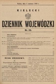 Kielecki Dziennik Wojewódzki. 1929, nr22