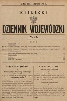 Kielecki Dziennik Wojewódzki. 1929, nr23