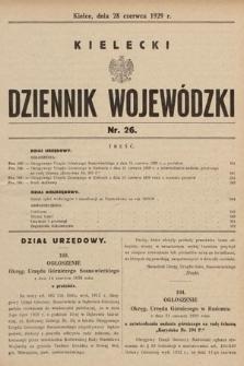 Kielecki Dziennik Wojewódzki. 1929, nr26