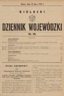 Kielecki Dziennik Wojewódzki. 1929, nr29