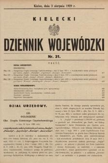 Kielecki Dziennik Wojewódzki. 1929, nr31