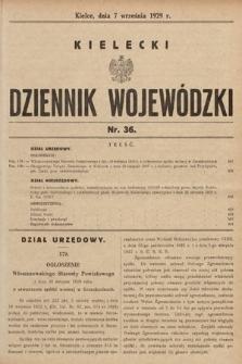 Kielecki Dziennik Wojewódzki. 1929, nr36