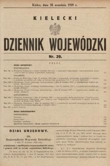 Kielecki Dziennik Wojewódzki. 1929, nr39
