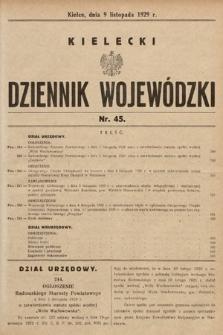 Kielecki Dziennik Wojewódzki. 1929, nr45