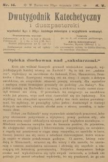 Dwutygodnik Katechetyczny i Duszpasterski. R.5, 1901, nr14