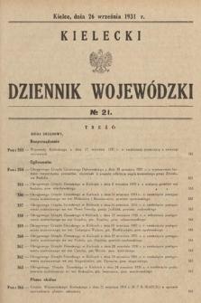 Kielecki Dziennik Wojewódzki. 1931, nr21
