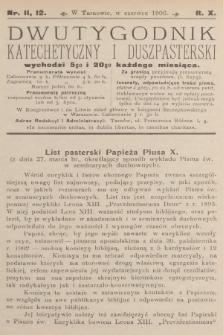 Dwutygodnik Katechetyczny i Duszpasterski. R.10, 1906, nr11-12