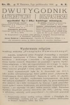 Dwutygodnik Katechetyczny i Duszpasterski. R.10, 1906, nr19