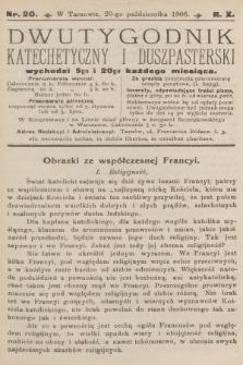 Dwutygodnik Katechetyczny i Duszpasterski. R.10, 1906, nr20
