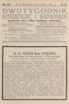 Dwutygodnik Katechetyczny i Duszpasterski. R.10, 1906, nr24