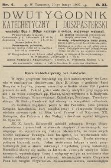 Dwutygodnik Katechetyczny i Duszpasterski. R.11, 1907, nr4
