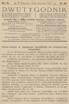 Dwutygodnik Katechetyczny i Duszpasterski. R.11, 1907, nr8