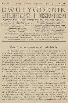 Dwutygodnik Katechetyczny i Duszpasterski. R.11, 1907, nr10