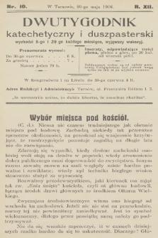 Dwutygodnik Katechetyczny i Duszpasterski. R.12, 1908, nr10
