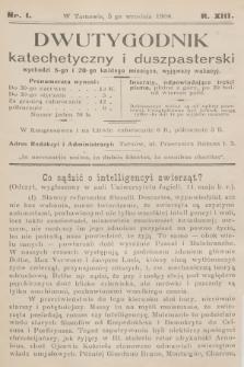 wutygodnik Katechetyczny i Duszpasterski. R.13, [T.13], 1908, nr1