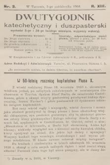 Dwutygodnik Katechetyczny i Duszpasterski. R.13, [T.13], 1908, nr3