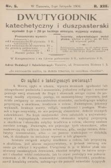 Dwutygodnik Katechetyczny i Duszpasterski. R.13, [T.13], 1908, nr5
