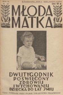 Młoda Matka : dwutygodnik poświęcony zdrowiu i wychowaniu dziecka do lat 7-miu : pismo popierane przez Polskie Towarzystwo Pedjatryczne. R.9, [1935], nr20