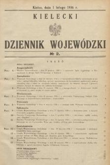 Kielecki Dziennik Wojewódzki. 1936, nr2