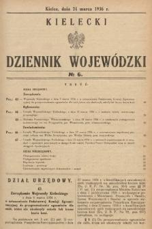Kielecki Dziennik Wojewódzki. 1936, nr6