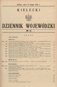 Kielecki Dziennik Wojewódzki. 1936, nr11