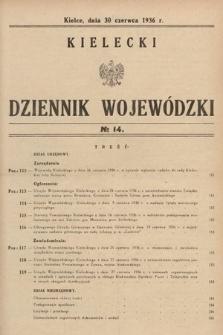 Kielecki Dziennik Wojewódzki. 1936, nr14