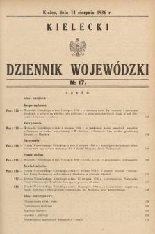 Kielecki Dziennik Wojewódzki. 1936, nr17