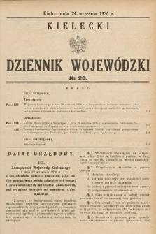 Kielecki Dziennik Wojewódzki. 1936, nr20