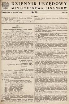 Dziennik Urzędowy Ministerstwa Finansów. 1950, nr20