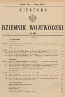 Kielecki Dziennik Wojewódzki. 1937, nr16