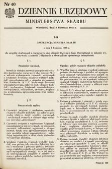 Dziennik Urzędowy Ministerstwa Skarbu. 1948, nr40