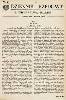 Dziennik Urzędowy Ministerstwa Skarbu. 1948, nr41