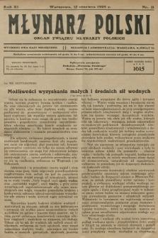 Młynarz Polski : organ Związku Młynarzy Polskich. R.11, 1929, nr11