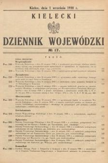 Kielecki Dziennik Wojewódzki. 1938, nr17