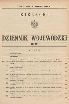 Kielecki Dziennik Wojewódzki. 1938, nr19