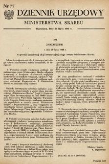 Dziennik Urzędowy Ministerstwa Skarbu. 1948, nr77