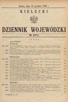 Kielecki Dziennik Wojewódzki. 1938, nr27