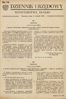 Dziennik Urzędowy Ministerstwa Skarbu. 1948, nr79