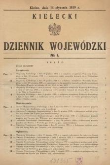 Kielecki Dziennik Wojewódzki. 1939, nr1