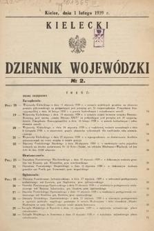 Kielecki Dziennik Wojewódzki. 1939, nr2