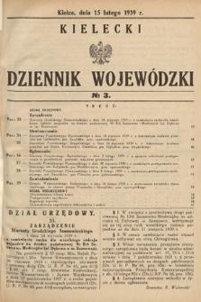 Kielecki Dziennik Wojewódzki. 1939, nr3