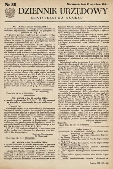 Dziennik Urzędowy Ministerstwa Skarbu. 1948, nr88