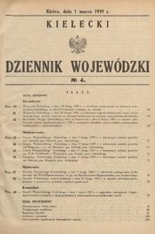 Kielecki Dziennik Wojewódzki. 1939, nr4