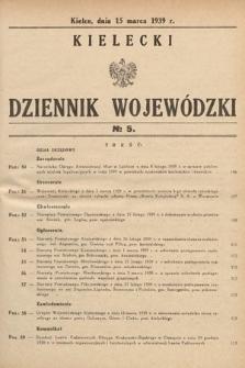 Kielecki Dziennik Wojewódzki. 1939, nr5