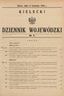 Kielecki Dziennik Wojewódzki. 1939, nr7