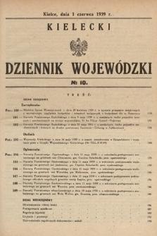 Kielecki Dziennik Wojewódzki. 1939, nr10
